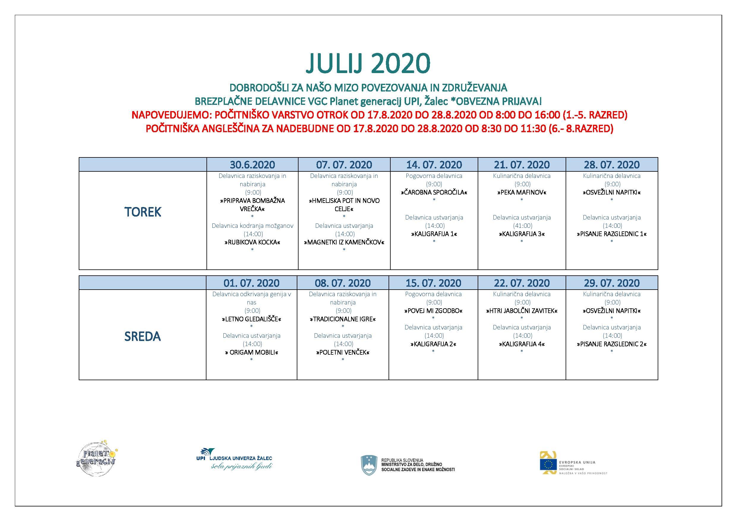 VGC AKTIVNOSTI JULIJ_2020